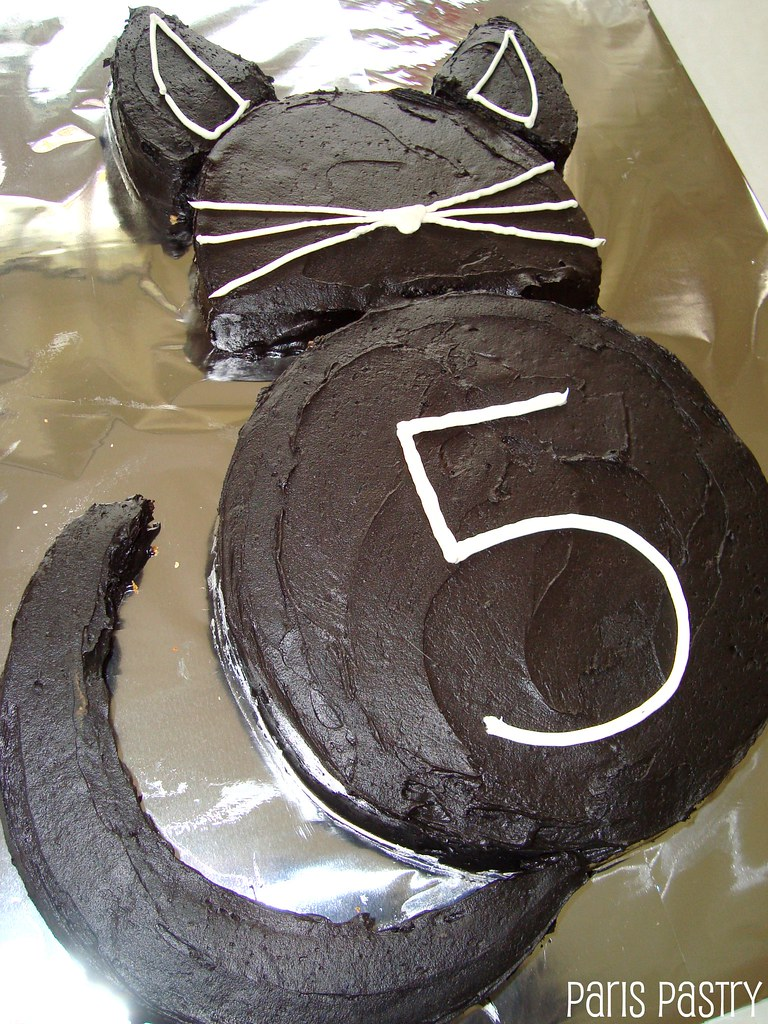 Cat Cake A Black Cat Cake For A Brithday Recipe Adapted