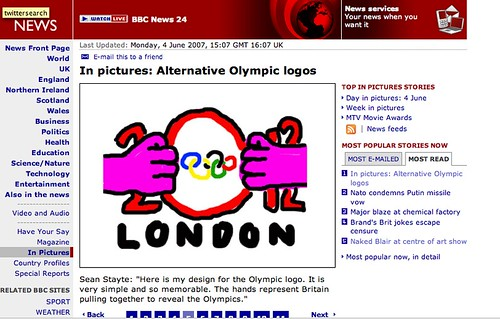 Suggested Olympics logo | by qwghlm