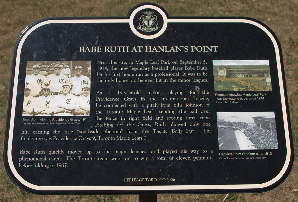 The Babe  A Plaque Commemorating The Site Of Babe Ruths -7395