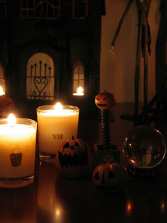 Scary pumpkins,candles and cristal ball | by girl enchanted
