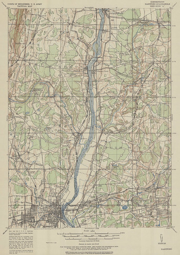 Hartford Quadrangle 1921 - USGS Topographic Map 1:62,500 | by uconnlibrariesmagic