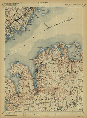 Oyster Bay Quadrangle 1918 - USGS Topographic Map 1:62,500 | by uconnlibrariesmagic