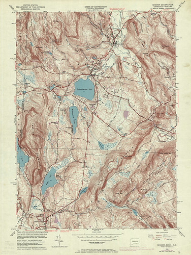 Sharon Quadrangle 1969 - USGS Topographic Map 1:24,000 | by uconnlibrariesmagic