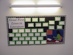 First Lines Bulletin Board | by Sally Book Bunny