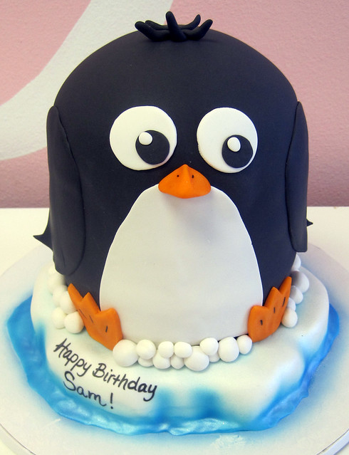 3D Penguin Cake for Sa...