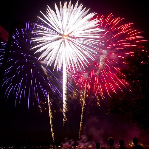 Red White and Blue Fireworks | by Kadath