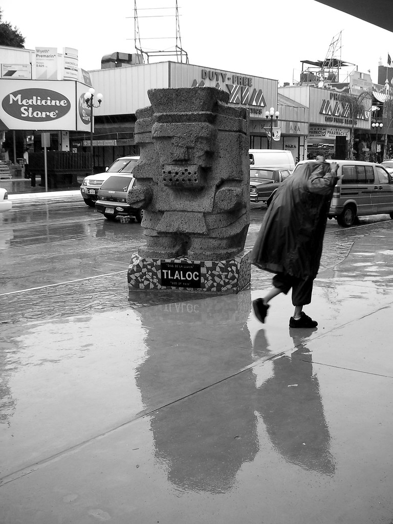 Statue To Tlaloc The Aztec God Of Rain Tijuana Mexico