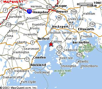 Castine Map  Castine Maine Where I39ll Be Next Week