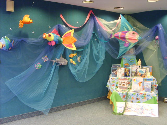water themed craft ideas the sea water fish and sharks a display 5705