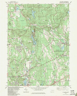 Old Mystic Quadrangle 1983 - USGS Topographic Map 1:24,000 | by uconnlibrariesmagic