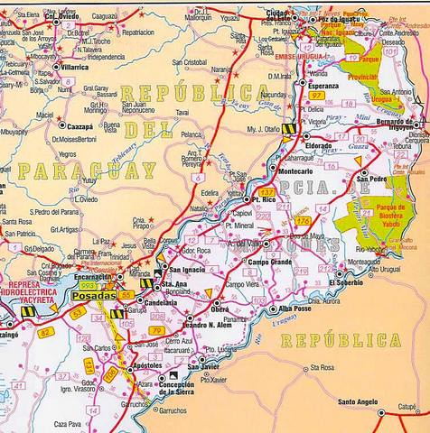 Mapa Rutero Prov 237 Ncia De Misiones Argentina Douglas