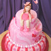 Pink cake for a little girl