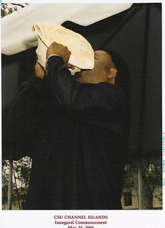 Ceremonial Blowing of the Conch Shell at 2003 Graduation | by California State University Channel Islands