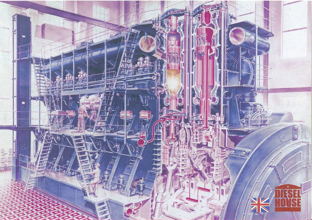burmeister and wain power station diesel engine this is