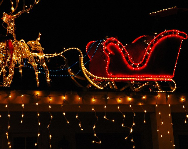 Outdoor Reindeer Lighted Christmas Decoration