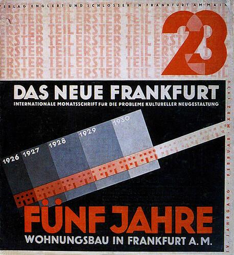 History german graphic design das neue frankfurt cover for Graphic design frankfurt