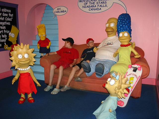 Hanging out in the simpsons living room movieland wax mus flickr for Simpsons living room picture