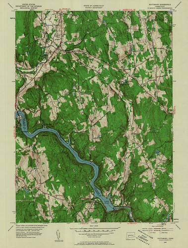Southbury Quadrangle 1953 - USGS Topographic Map 1:24,000 | by uconnlibrariesmagic