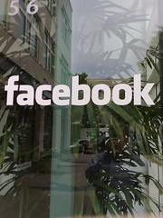 A window on front of Facebook offices in Palo Alto | by Robert Scoble