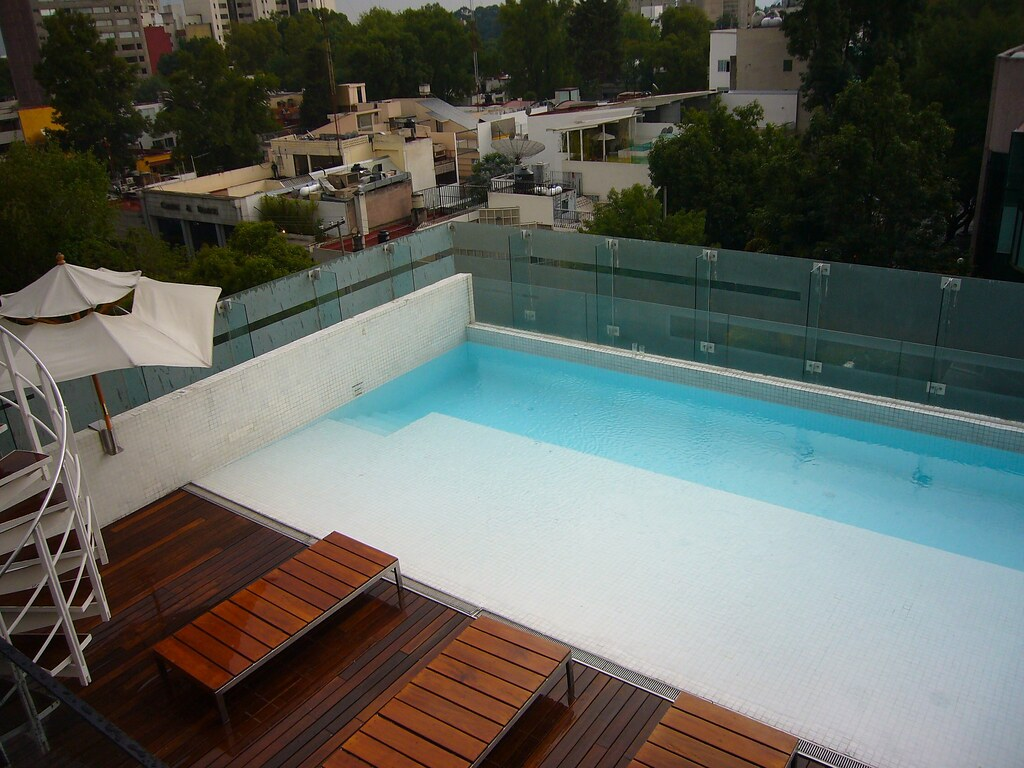 Rooftop Swimming Pool At Hotel Habita Mexico City Flickr