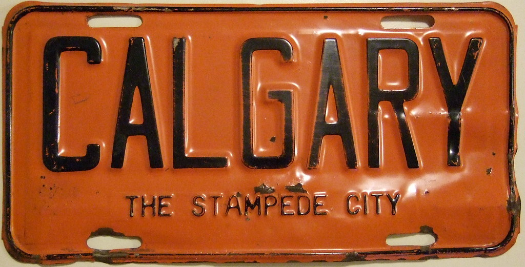 ALBERTA 1954 auto license plate CALGARY front plate | Flickr