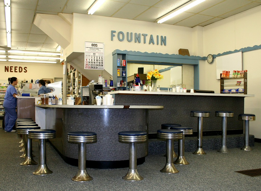 Soda Fountain See The Gray Base Of The Counter
