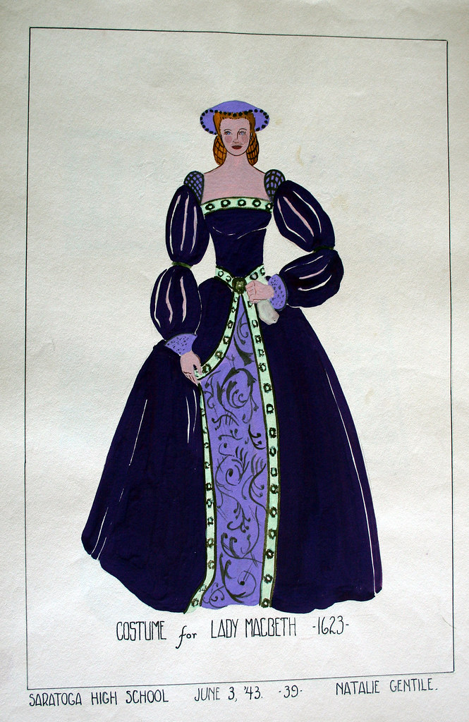 costume for lady macbeth 1623
