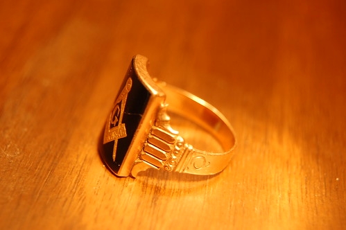 Masonic Gold/Onyx Ring | by JamesCanby