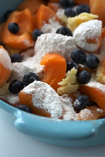 apricot blueberry cobbler | by Lara Ferroni