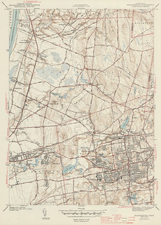 Manchester Quadrangle 1944 - USGS Topographic Map 1:31,680 | by uconnlibrariesmagic