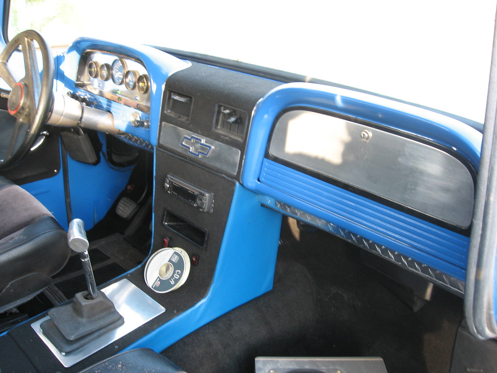 62 chevy truck | Interior no to bad. all made at home.dash