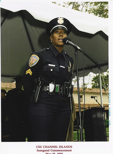 Officer Singing the National Anthem at 2003 Graduation | by California State University Channel Islands