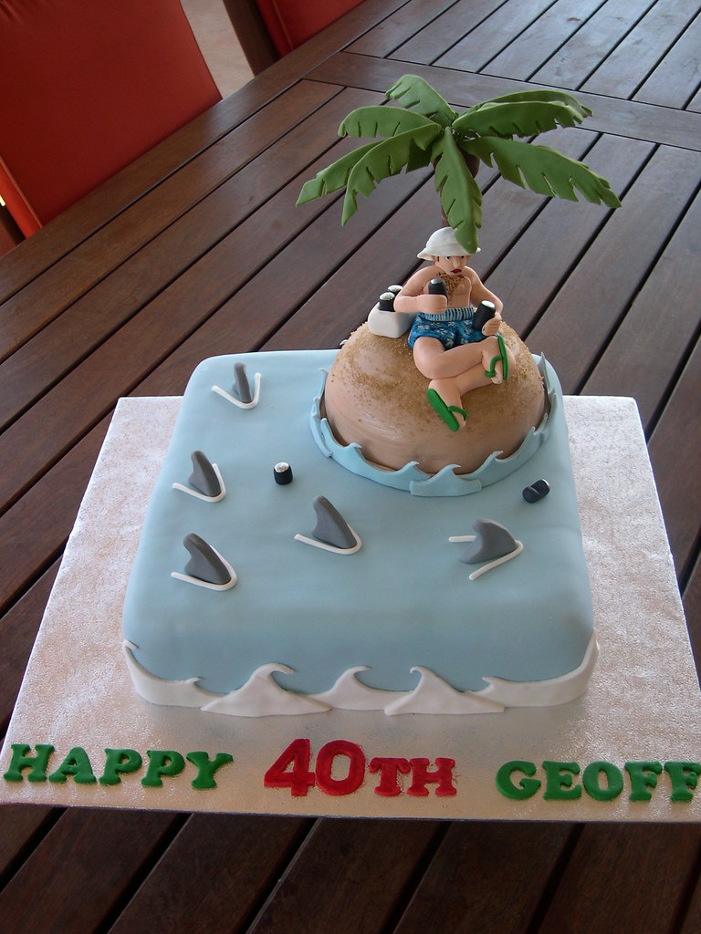 Desert Island Shark Attack Cake This Is Also A Mud Cake