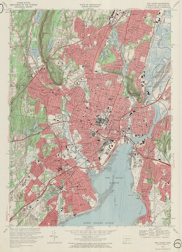 New Haven Quadrangle 1967 - USGS Topographic Map 1:24,000 | by uconnlibrariesmagic