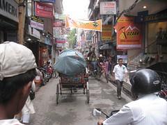 The busy streets of Kathmandu...