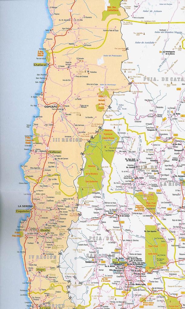 Mapa Rutas Argentinas Y Chilenas Argentina Chile Road M Flickr - Argentina mapa