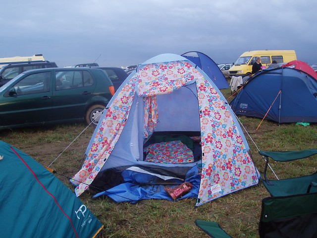... My Cath Kidston tent | by veganknitterUK & My Cath Kidston tent | Pitched at WOMUD 2007 Friday 27 Julyu2026 | Flickr
