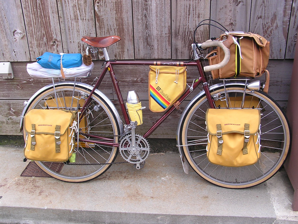vintage bicycle touring bags Aces