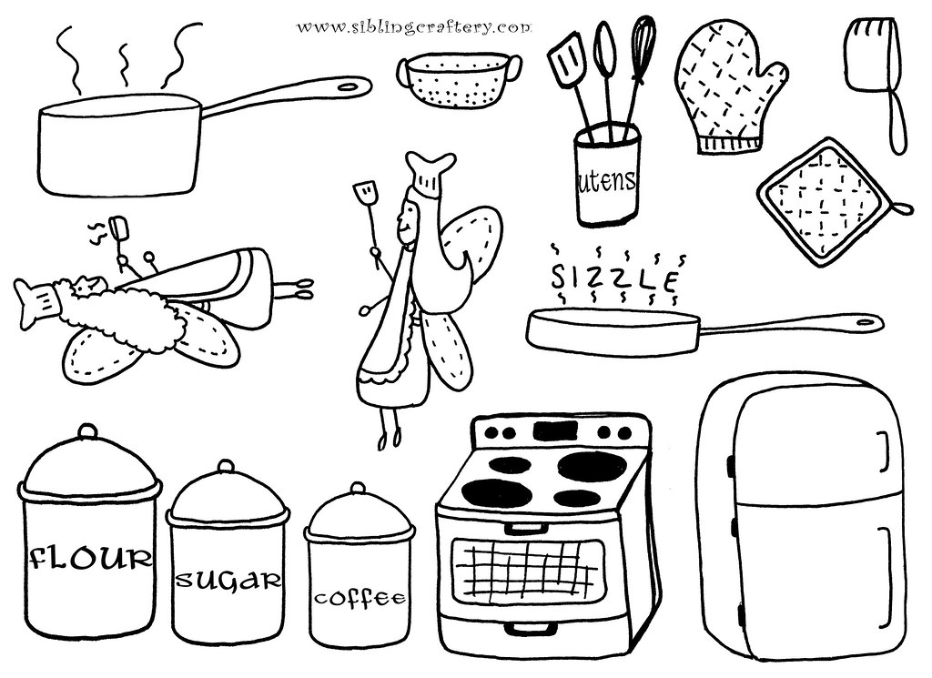 Kitchen Embroidery Patterns These Kitchen Embroidery Patte Flickr