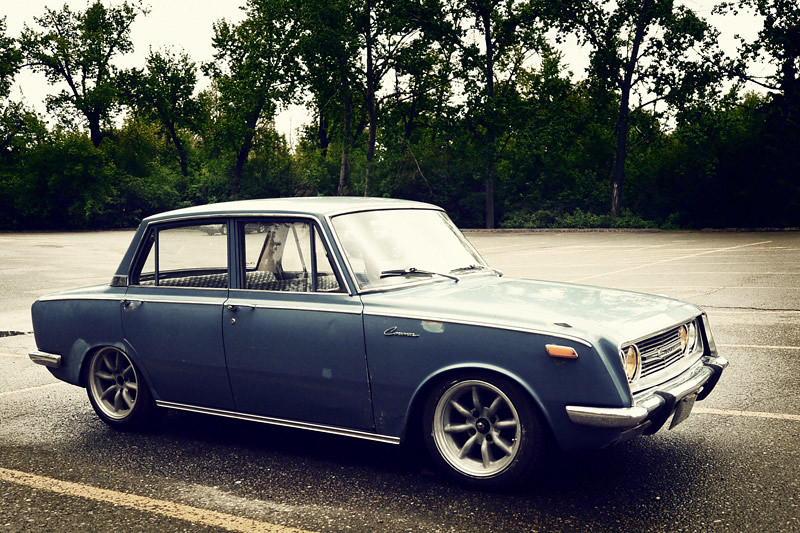 1968 Toyota Corona Lowered 3 5 Quot On Qa1 Coilovers Up