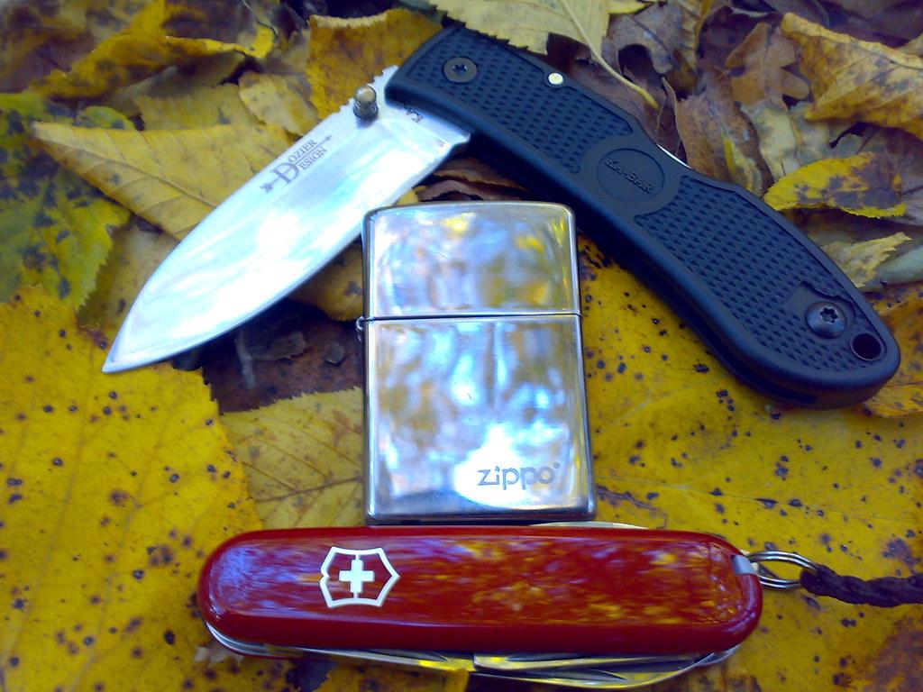 Ka Bar Dozier Zippo Black Ice Swiss Army Knife Spartan