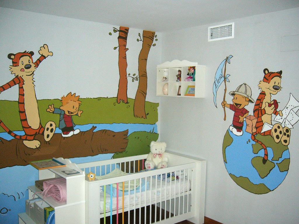 Mural dormitorio calvin hobbes andres perez flickr for Calvin and hobbes nursery mural