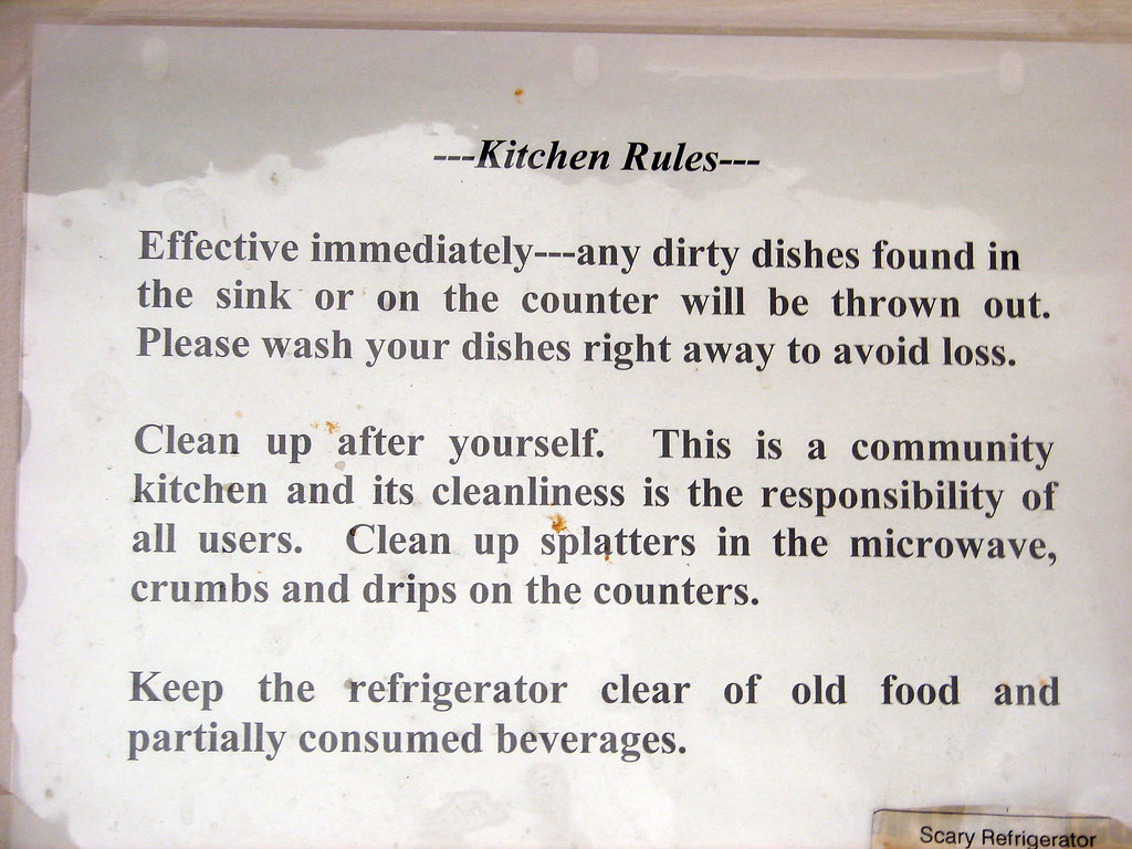 Rules And Regulations In The Kitchen