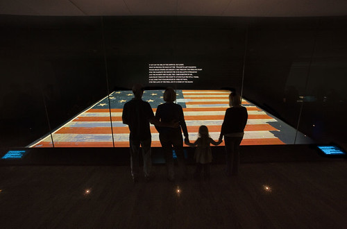 Visitors view the Star-Spangled Banner | by national museum of american history