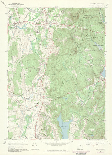 Ellington Quadrangle 1972 - USGS Topographic 1:24,000 | by uconnlibrariesmagic