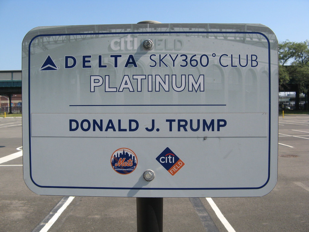 sign marking donald trump 39 s parking space in the citi fiel flickr. Black Bedroom Furniture Sets. Home Design Ideas