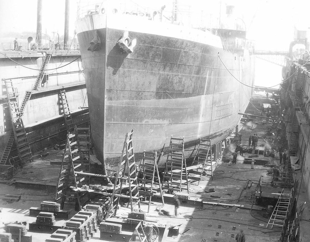 Dommages causés au navire «Cymbeline» à la Canadian Vicker ...