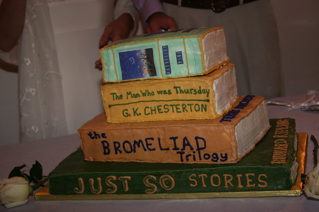 Cake Wedding Cake A Stack Of Books That Are