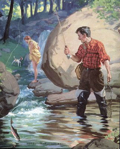 Women Fishing Concerned Husband | by UpNorth Memories - Donald (Don) Harrison