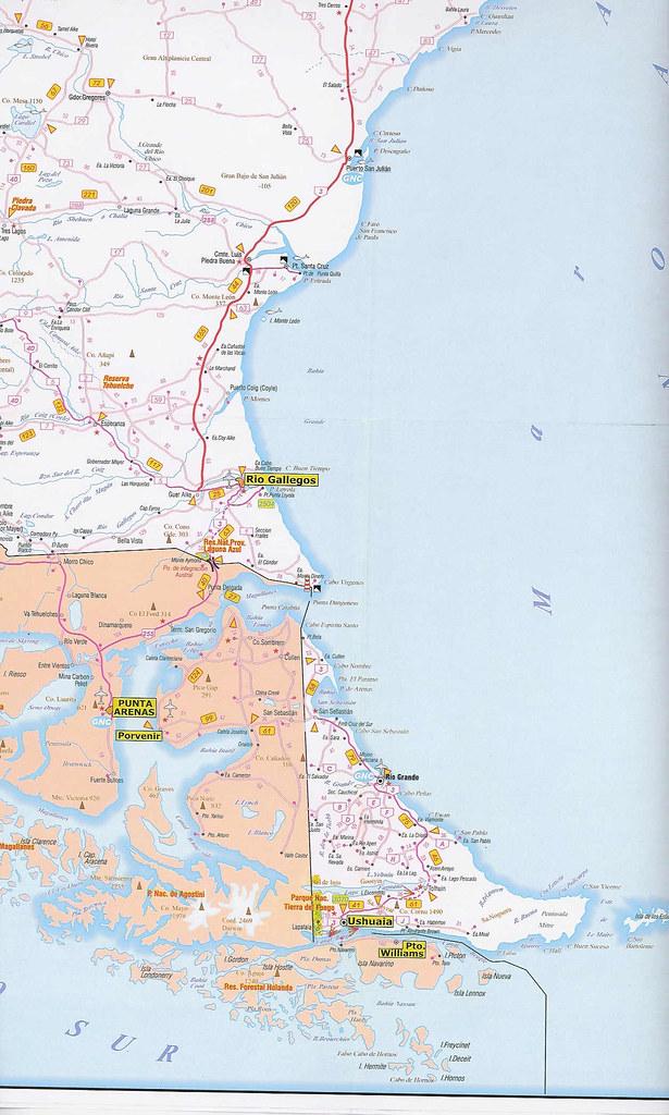 Mapa Províncias De Tierra Del Fuego Y Santa Cruz Parcial Flickr - Argentina map tierra del fuego